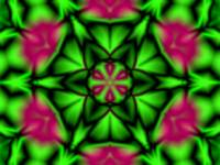 Soft Green & Magenta Flower Kaleidoscope Mandala