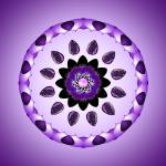 """Purple Flower Mandala Kaleidoscope"" by TigerLynx"