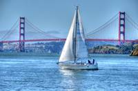 BnB..Bridge and Boat..Sausalito, CA