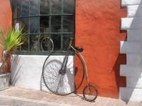 Penny-Farthing in Front of Bike Shop