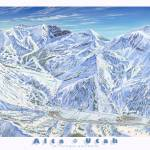 """Alta Ski Resort, 1991"" by jamesniehuesmaps"