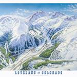 """Loveland Ski Resort, Colorado"" by jamesniehuesmaps"