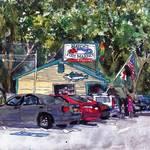 """""""Cape Cod Art Watercolor Landscape Hatch"""
