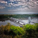 """RR bridge across the Mississippi at Hannibal, Mo."" by dennisherzog"