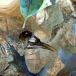 """Bird Skeleton Abstract No3"" by evansonart"
