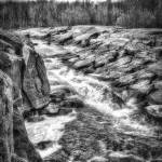 """White Water Valley B/W"" by Bendinglife"