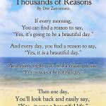"""Thousands of Reasons (beautiful life)"" by Happinessinyourlife"