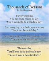 Thousands of Reasons (beautiful life)