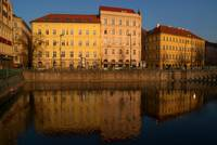 Buildings beside the Vltava River, Prague