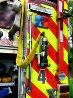 Fire Hose on Striped Fire Engine