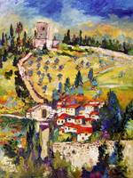 Rocca Maggiore Assisi Italy Oil Painting