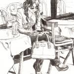 """Vanessa Texting"" by DBCArtwork"