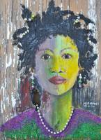 MARDI GRAS GIRL NEW ORLEANS SOUTHERN ART
