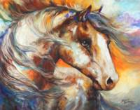 PAINTED WIND EQUINE by Marcia Baldwin