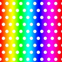 Rainbow White Polka Dots