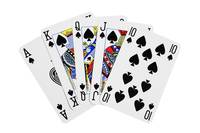 Playing Cards Royal Flush on White Background