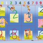 """Learning the Numbers,educational big art print 12"" by MarianneIlevitzky"