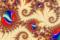 Golden Trails Abstract Fractal Illustration