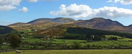 View of the Mourne Mountains