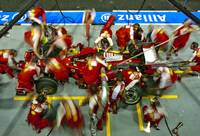 Ferrari Pit Stop at the Singapore Grand Prix 2009
