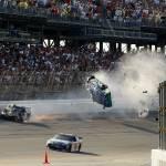 """Carl Edwards flies at Talladega 2009"" by roadandtrackphotos"