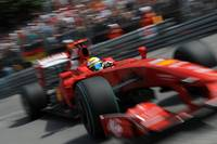 Felipe Massa drives his Ferrari at Monte Carlo