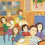 """School-Children in Class , listening and Learning"" by MarianneIlevitzky"