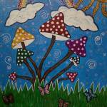 """whimsical mushrooms"" by priyanka29rastogi"