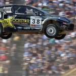 """Ford Fiesta flies at the X Games 2006"" by roadandtrackphotos"