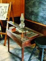 Teacher's Desk With Hurricane Lamp