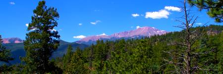 Pikes Peak from Waldo Canyon Panorama