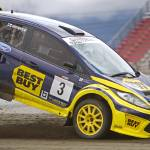 """Ford Fiesta at GlobalRallyCross 2011"" by roadandtrackphotos"
