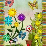 """Very Hippy Day Whimsical Fantasy Art"" by ReneeLozenGraphics"