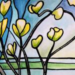 """Dogwood Stained Glass II"" by ElizaArt"