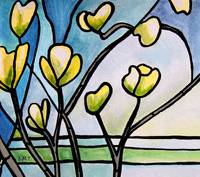 Dogwood Stained Glass II