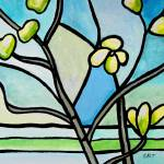 """Dogwood Stained Glass III"" by ElizaArt"