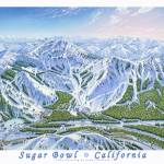 """Sugar Bowl, California"" by jamesniehuesmaps"