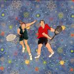 """TENNIS PARTNERS"" by ARTCREATIONSBYOLGA"