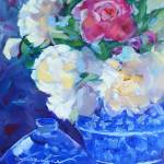 """Peaceful Peonies"" by jacquelinebrewerart"