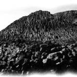 """Staffa Basalt 1 bw pencil"" by StevenHorst"