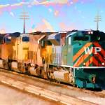 """Western Pacific train"" by Pauljs"