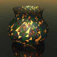 Tiffany Vase in Virtual Glass