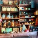 """Behind the Counter at the General Store"" by susansartgallery"