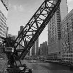 """Kinzie Street Bridge - B&W"" by ZPPhoto"