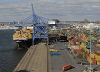 View From Crane of Busy Marine Terminal by Bill Mc
