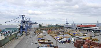 Panorama View Of Marine Terminal