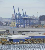 View From Crane of Ro Ro Terminal-Bill Mcallen