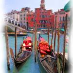 """EE-020 Gondolas On the Grand Canal"" by marywhitmer"