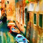 """EE-046 Boats of Venice"" by marywhitmer"