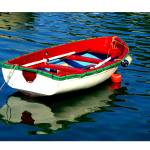"""EE-026 Red Boat Reflections"" by marywhitmer"